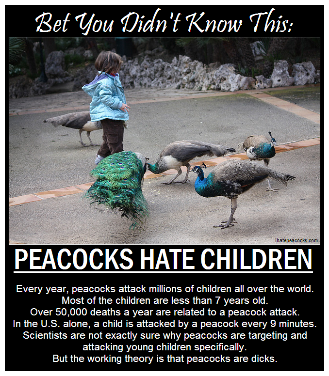 ihatepeacocks peacock attack children internet fact